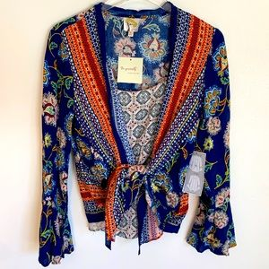 NWT Anthropologie Fig & Flower faux layer Blouse